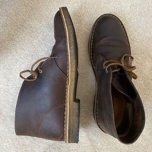 CLARKS BUSHACRE men's brown chukka boot shoe 9